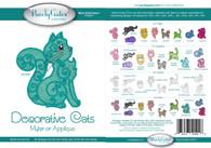 Decorative Cats Mylar or Applique CD