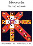 Moccasin Block of the Month Complete Set of 12 Patterns
