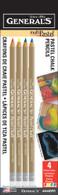 MultiPastel Chalk Pencils 4/pkg