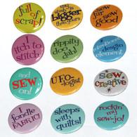 Sew Sassy Button Set 3 48/pkg