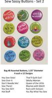 Sew Sassy Button Set 2 48/pkg