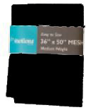 Mesh Fabric Medium Weight 36in x 50in Black