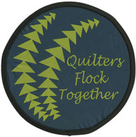 Quilters Flock Together Pocket Hand Fan