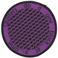 Quilter's Do It One Block At A Time Pocket Hand Fan
