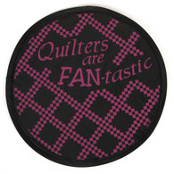 Quilters are Fan-tastic Hand Fan