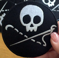 Sewing Skull Merit Badge Patch