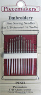 Embroidery Fine Sewing Needles 5/10 Assorted 16 Needles