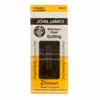 John James Stainless Steel Between / Quilting Needles Size 8 4/pkg