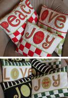 Peace Love Joy Pillows Applique Pattern