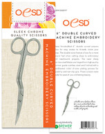 Double Curved 6in Machine Embroidery Scissors