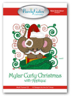 Mylar Curly Christmas with Applique with CD