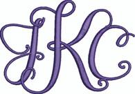 Custom Monogram Stylish Font - Includes 3 Letters