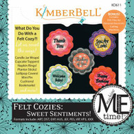 Felt Cozies For Sweet Sentiments Machine Embroidery CD
