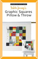 Japanese Quilt Artist Series: Yoshiko Jinzenji's Graphic Squares Pillow and Throw Pattern