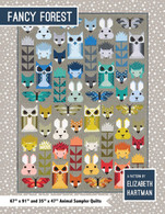 Fancy Forest Animal Sampler Quilt Front Cover