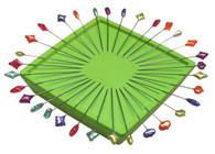 Zirkel Magnetic Pin Holder Lime Green