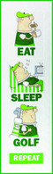Eat, Sleep, Golf Wall Hanging Quilt Applique Pattern