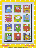 Robots Quilt Applique Pattern
