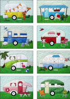 Campers Quilt Applique Pattern and Laser Cut Fabric Kit