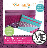 The Jeanette Zipper Pouches Small and Medium Machine Embroidery CD