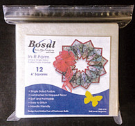 Bosal In-R-Form Sew in or Fusible Single Sided Foam Stabilizer 12/pkg 6in Square