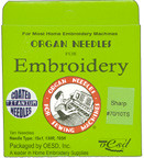 Organ Titanium Sharps 70/10 Embroidery Needles