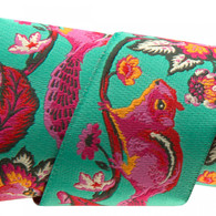 1-1/2in Ribbon Pink and Orange on Turquoise Chipmunk by Tula Pink - By The Yard