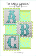 The Artistic Alphabet Embroidery Design CD