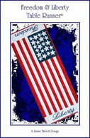 Freedom & Liberty Table Runner Embroidery Design CD