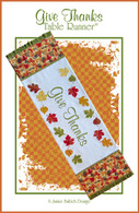 Give Thanks Table Runner Embroidery Design CD