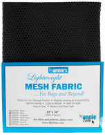 Lightweight Mesh Fabric Black 18in x 54in