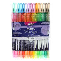 Dual Tip Fabric Markers 30/pkg