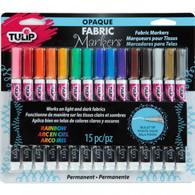 Opaque Rainbow Fabric Markers 15/pkg