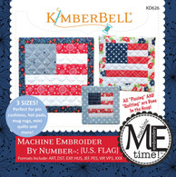 Machine Embroider by Number US Flag Embroidery CD
