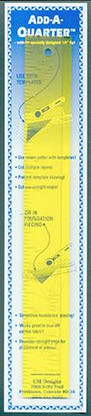 Add-A-Quarter Ruler 12 inch x 1-1/2 inch