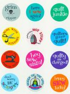 Sew Sassy Button Set 5 48/pkg