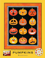 Pumpkins Wallhanging Quilt Applique Pattern