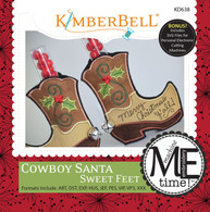 Cowboy Santa Sweet Feet Embroidery CD