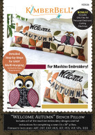 Welcome Autumn Bench Pillow Machine Embroidery CD