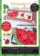 Slice of Summer Watermelon Machine Embroidery CD