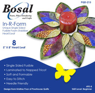 Bosal In-R-Form Heart/Leaf Shapes Single Sided Fusible Foam Interfacing 8/pkg