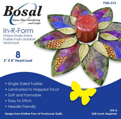 Bosal In-R-Form Heart/Leaf Shapes Single Sided Fusible Foam ...