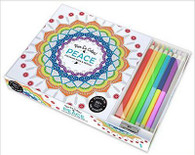 Peace Vive Le Color! Coloring Book with Colored Pencils