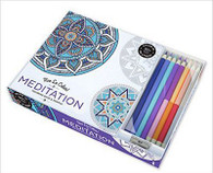 Meditation Vive Le Color! Coloring Book with Colored Pencils
