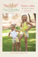 Coachella Shorts Girls Pattern