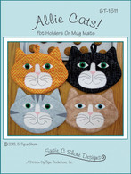 Allie Cats Potholders and Mug Mats Pattern