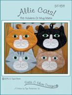 Allie Cats Potholders and Mug Mats Pattern