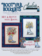 Bootiful Bouquets Cowboy Ice Skate Machine Embroidery CD