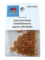 Embellishment Kit Seed Beads Gold