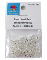 Embellishment Kit Seed Beads Silver